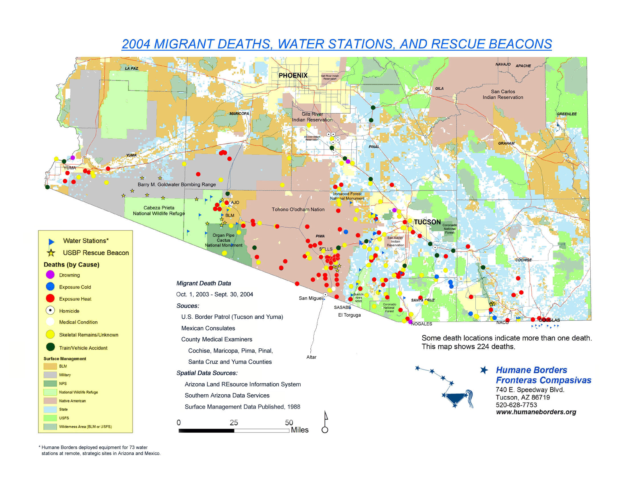 Migrant Death Mapping | Humane Borders